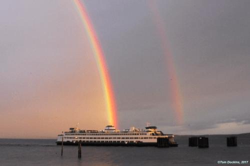 Double Rainbow over Edmonds Ferry