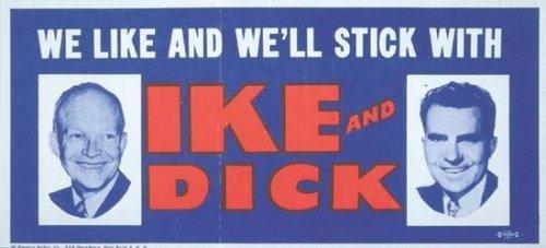 Eisenhower re-election bumper sticker